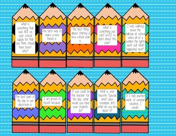 Back to School Work on Writing Writing Prompts {August & September}