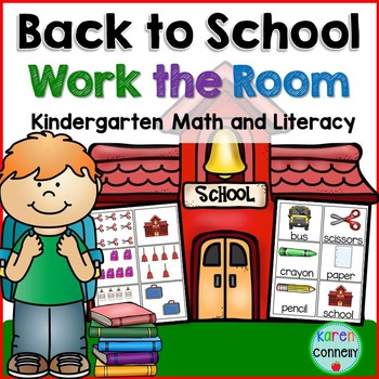 Back to School Work the Room