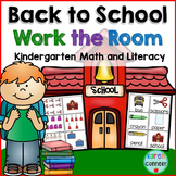 Back to School Work the Room (Read and Write the Room)