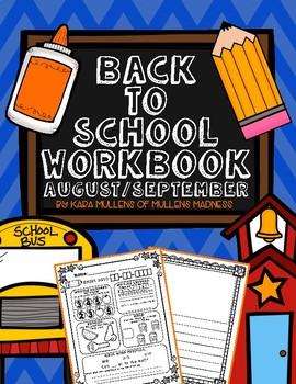 Back to School Workbook