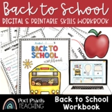Back to School Workbook, No Prep