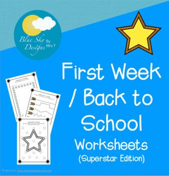 Back to School Worksheets - Freebie!