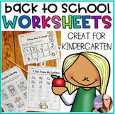 Back to School Worksheets K-1 No Prep