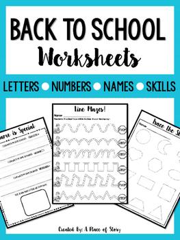 Back to School Worksheets (NO PREP)