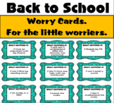 Back to School Worry Cards