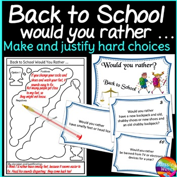 Back to School Would You Rather? Ice Breakers to get to Know Everyone