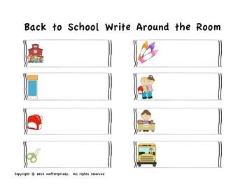 Back to School Write Around the Room