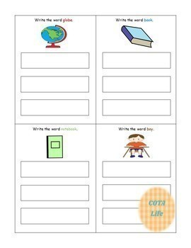 DIFFERENTIATED Back to School Write It! Write-A-Word Handwriting Practice Cards