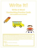 DIFFERENTIATED Back to School Write It! Write-A-Word Handw