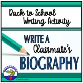 Back to School Writing Activity: Interview a Classmate and Write a Biography