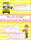 """""""Back to School"""" Write and Count the Room!"""