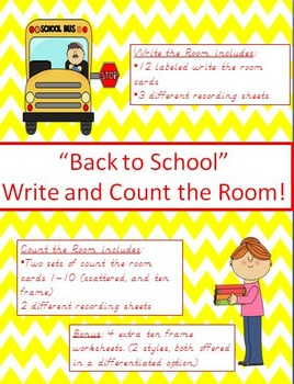 """Back to School"" Write and Count the Room!"