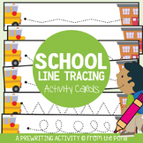 Back to School Themed Write n Wipe prewriting Cards