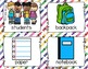 Back to School Write the Room - 16 cards four versions, four recording sheets