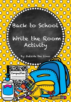 Back to School Write the Room Activity