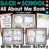 Back to School - Write the Room, All About Me Book
