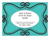 Back to School Write the Room Bundle