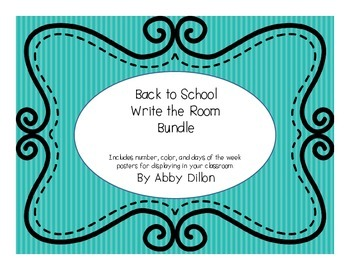 Back to School Write the Room Bundle