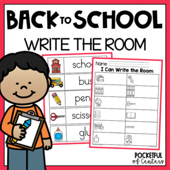 Back to School Write the Room by Pocketful of Centers | TpT