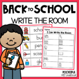 Back to School Write the Room