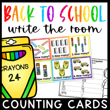 Back to School Math Center- Write the Room Counting Cards