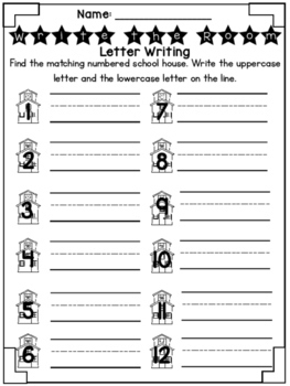 Back to School Write the Room- Letter Writing