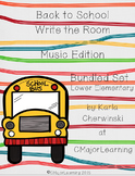 Back to School Write the Room Music Edition Lower Elementary Bundle (4 sets)