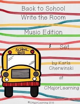 Back to School Write the Room Music Edition Z (rest) Set