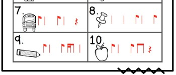 Back to School Write the Room Music Edition syn-co-pa Set