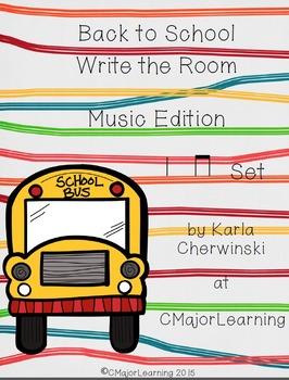 Back to School Write the Room Music Edition ta ti-ti Set