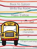 Back to School Write the Room Music Edition ta ti-ti Set