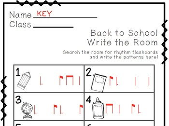 Back to School Write the Room Music Edition tam-ti/ti-tam(dotted quarter eighth)