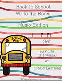 Back to School Write the Room Music Edition tam-ti/ti-tam(