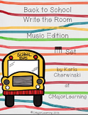 Back to School Write the Room Music Edition tika tika (sixteenth notes) Set