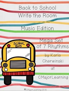 Back to School Write the Room Music Mega Bundled Set