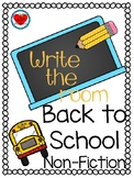 Back to School Write the Room NonFiction