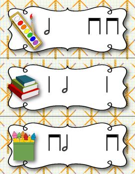 Back to School! Write the Room Rhythm Activity - Ta-a