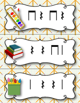 Back to School! Write the Room Rhythm Activity - Ta rest