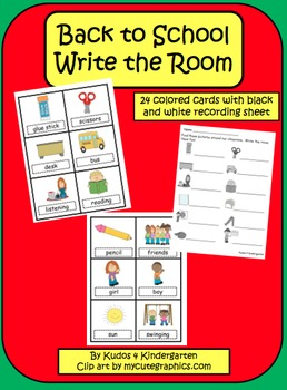 Back to School Write the Room Set