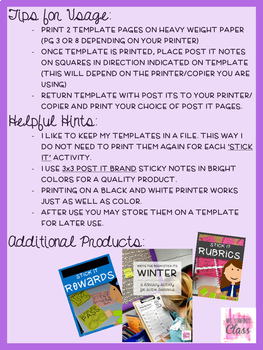 Back to School - Write the Room Writing Prompts {Cardstock or Post It Notes}