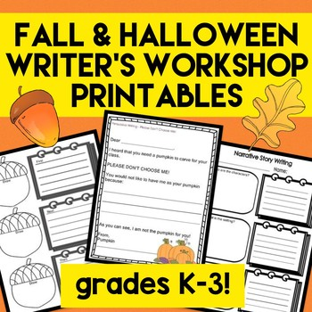 FALL Writer's Workshop Writing Templates! 6 Traits of Writing NO PREP!
