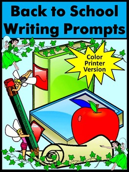 Back to School Writing Prompts - Color Version