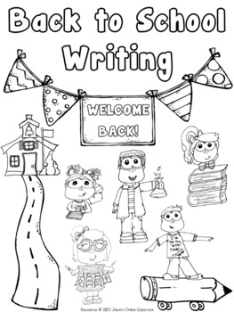 Back to School Writing Prompts {Narrative, Informative & Opinion Writing}