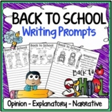 Back to School Writing Prompts {Narrative, Informative & O