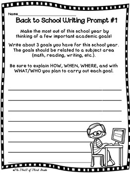 Back to School Writing #1