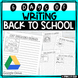 Five Days of Writing - Back to School