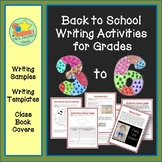 Back to School Writing Activities