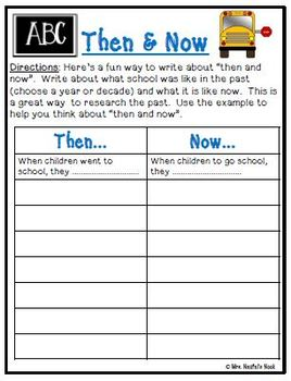 Back to School Writing Activities - Poetry, Lists, Similes, and Writing Paper