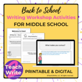 Back-to-School Writing Activities for Middle School