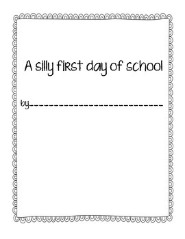 Back to School Writing Activity
